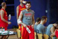 Rudy, durante un entrenamiento de la pasada semana en Madrid.