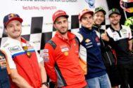 Los pilotos de MotoGP, antes del GP de Austria.