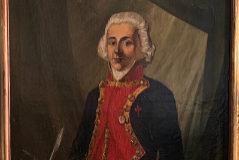 Retrato del brigadier Rosendo Porlier, de autor desconocido, pintado en torno a 1800. Murió de hipotermia en la Antártida a los 48 años.