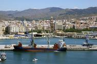 Muelle del Puerto de Málaga.