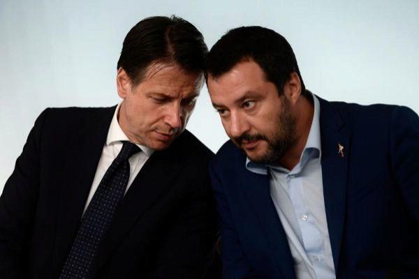 Giuseppe Conte y Mateo Salvini.