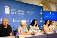 Momento de la presentación en la Diputación de Almería de la cita festiva en Ohanes.