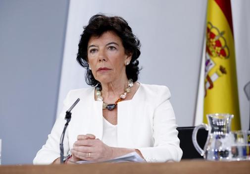 Isabel Celaá, en rueda de prensa tras el Consejo de Ministros.