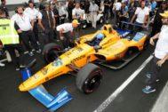 Alonso, con el McLaren, el pasado mayo, en el IMS.