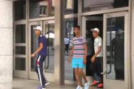Tres de los cuatro argelinos detenidos por la violación de una joven en Bilbao.