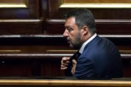 Rome (Italy).- Italy's Minister of the Interior and Deputy Prime Minister, <HIT>Matteo</HIT> <HIT>Salvini</HIT>, in the Senate during the vote of confidence on the Security Bis decree, Rome, Italy, 05 August 2019. Prime Minister Giuseppe Conte's government faces a big test when <HIT>Salvini</HIT>'s second 'security' decree goes to a confidence vote on the Senate. Among other things, the new decree would see people and organizations who rescue people at sea and take them into Italian waters without permission subject to big fines. Critics have said it could undermine the human rights of asylum seekers and the victims of torture. (Italia, Roma) EPA/
