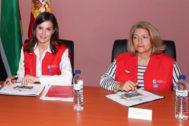 Camen Buján junto a la Reina Letizia, en un acto en Mozambique