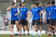 Aduriz, durante el entrenamiento del viernes con el Athletic.