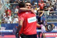 Galán y Lima, felices tras su victoria en cuartos.