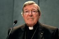 El cardenal australiano George Pell, en una rueda de prensa en el Vaticano.