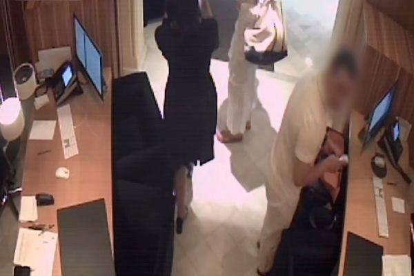 Imagen del sospechoso captada por las cámaras