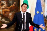 Matteo Renzi, durante su etapa como primer ministro de Italia.