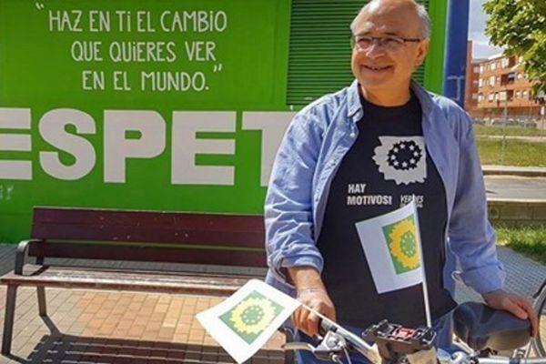El ex alcalde de Villena, Francisco Javier Esquembre, durante un acto de Los Verdes.