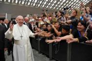 El Papa Francisco, en una audiencia en el Vaticano la semana pasada.