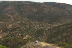 El valle de El Puntal y Montón de Trigo desde Pozo Nuevo, una de las explotaciones de El Centenillo, en el corazón de Sierra Morena.