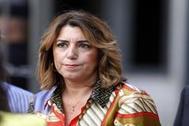 Susana Díaz en el debate sobre la investidura de Pedro Sánchez, en el Congreso de los Diputados.