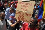 Manifestación contra Donald Trump en Caracas.
