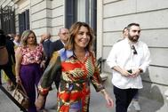 Susana Díaz, el día que acudió a la investidura fallida de Pedro Sánchez.