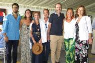 Gonzalo Fernández, Paloma González, Teresa Solana, José Luis Sendino, Jorge González, Mari Carmen Martín (directora de Administración de Ventas de Unidad Editorial) y María Luisa Cobián.