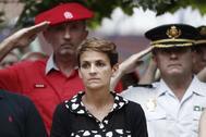 """Cruce de acusaciones entre PSN y UPN tras los gritos de """"traidora"""" de víctimas del terrorismo a María Chivite"""