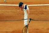 John McEnroe en un momento de la final de 1984 de Roland Garros.