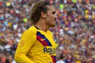 Griezmann golea en el último amistoso del Barcelona