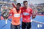 Lima y Galán, tras su victoria en la final de Mijas.