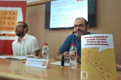 Antonio Moreno 18.07.2019 Barcelona Cataluña.El presidente Oscar Escuder en la presentación de la La <HIT>Plataforma</HIT> per la <HIT>Llengua</HIT> presenta estudio sociolingüstico.
