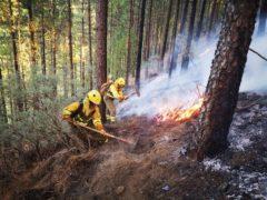 Sigue sin control el incendio en la cumbre: mil hectáreas calcinadas y un millar de desalojados