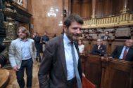 Antonio Moreno 23.07.2019 Barcelona Cataluña. Albert <HIT>Batlle</HIT> teniente alcalde de Seguridad del Ayuntamiento de Barcelona ,en pleno de Ayuntamiento.