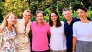 Mireya Vall con los miembros de la candidatura 'Todos somos Cs' que hoy se enfrenta a Juan Antoni Guzmán.