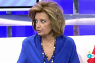 María Teresa Campos discute, en directo, con los colaboradores de Sálvame.