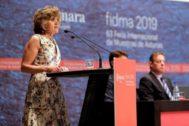 La ministra de Sanidad, María Luisa Carcedo, en un acto reciente.