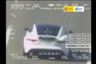 Un vehículo 'cazado' por el Pegasus a 200 km/h
