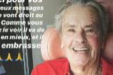Captura de la imagen subida por el hijo de Alain Delon