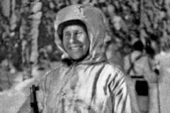 Simo Hayhä durante la guerra contra los soviéticos