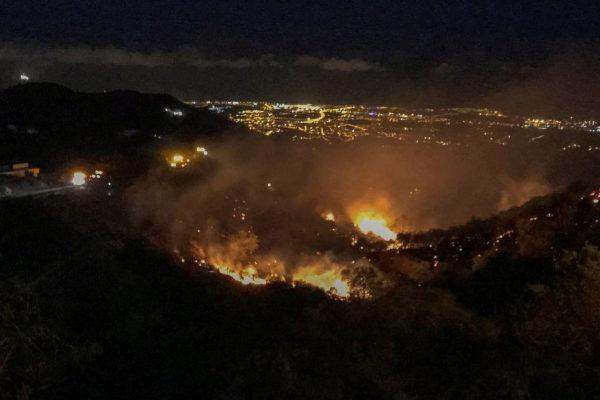 El nuevo incendio forestal en el municipio grancanario de Telde, ya...