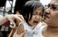 Campaña de vacunación del sarampión en Manila.