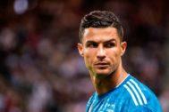 Cristiano, durante el encuentro ante el Atlético.