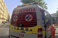 Una ambulancia del SAMU en Alicante , en una imagen de archivo