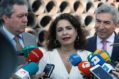 La ministra de Hacienda, María Jesús Montero, hoy en Sevilla.