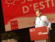 Ximo Puig, este lunes por la noche en la tradicional cena de verano del PSPV-PSOE en Dénia