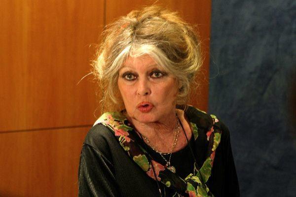 La actriz Brigitte Bardot durante un acto celebrado en la Asamblea...