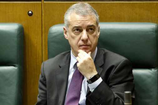 Iñigo Urkullu, en un pleno en el Parlamento vasco