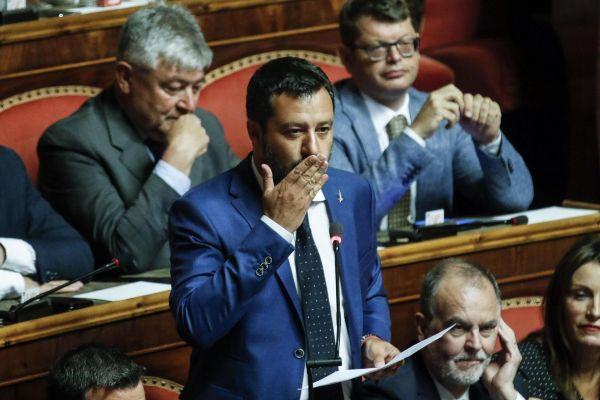 Rome (Italy).- Italian Interior Minister, Deputy Premier and Secretary...