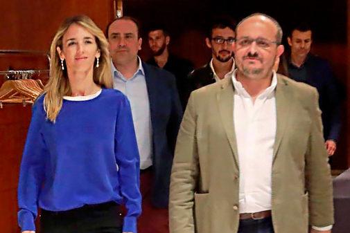 Cayetana Álvarez de Toledo y Alejandro Fernández, en un acto del PP