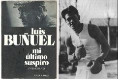 A la izquierda, la portada original de 'Mi último suspiro'. Al lado, Buñuel en la Residencia de Estudiantes.