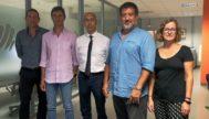 Representantes de la Oficina Anticorrupción junto con miembros del Govern balear, ayer, tras reunirse para coordinar sus actuaciones.