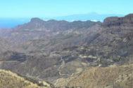 Zona arrasada por el incendio en Gran Canaria.