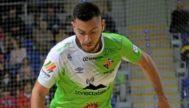 Bruno Taffy en acción en un partido del Palma Futsal.
